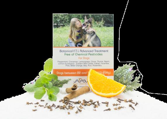 Bylinné antiparazitné pipety pre psov od 10 až 25 kg Arava